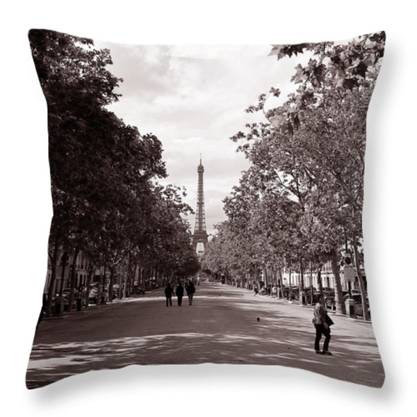 Classic Paris 10 Throw Pillow by Andrew Fare