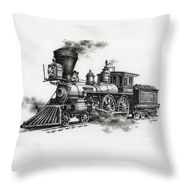 Classic Steam Throw Pillow by James Williamson