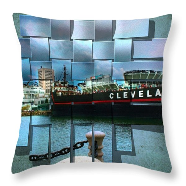Cleveland A Different Look Throw Pillow by Kenneth Krolikowski