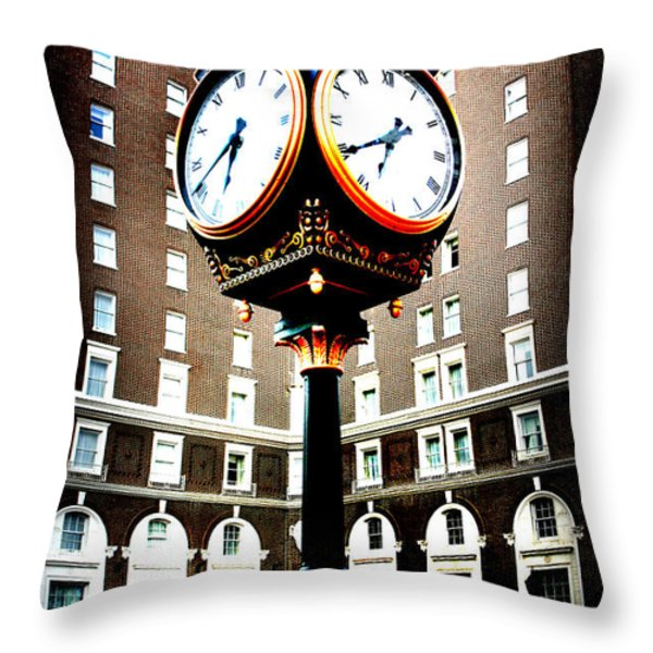Clock Throw Pillow by Kelly Hazel