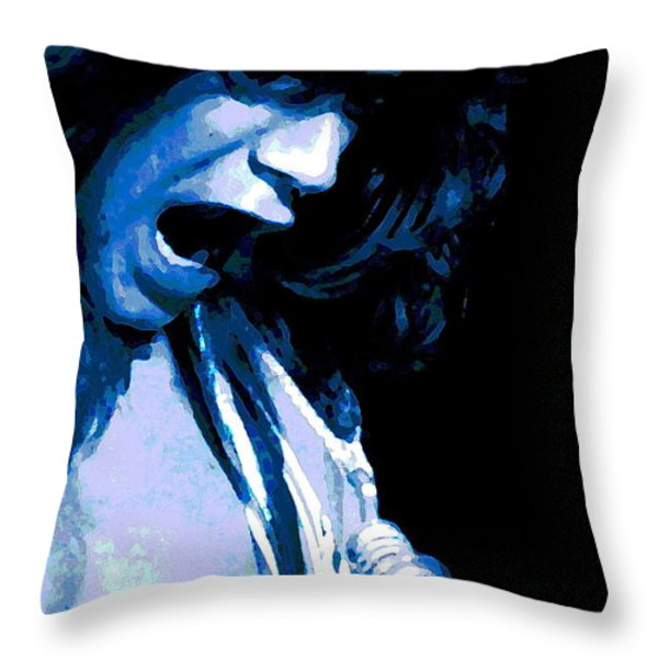 Close Up With Eddie Throw Pillow by Ben Upham