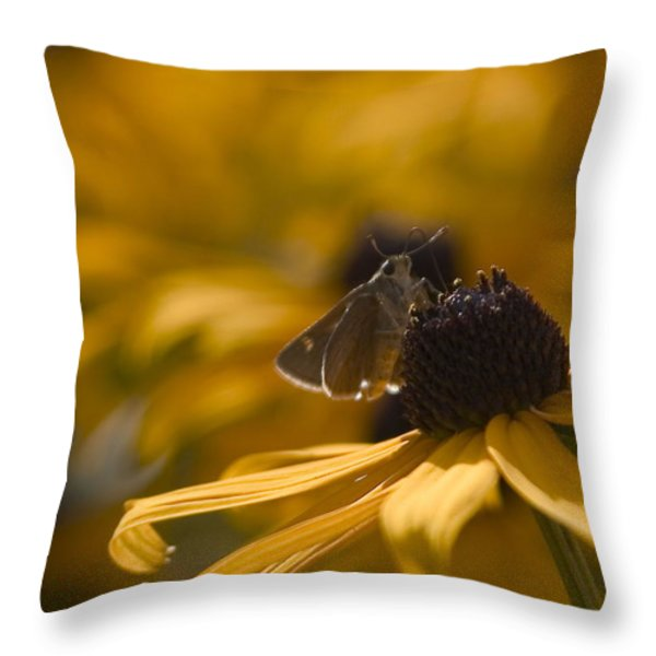 Closeup Throw Pillow by Karol  Livote