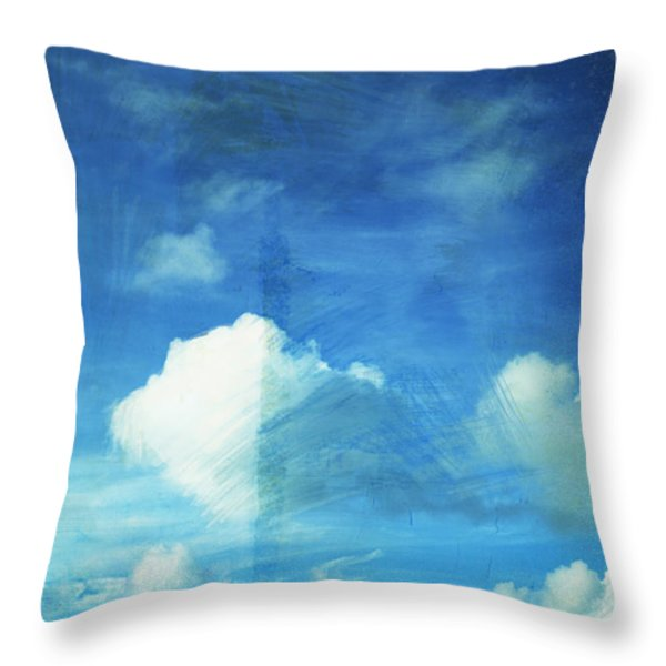 cloud painting Throw Pillow by Setsiri Silapasuwanchai