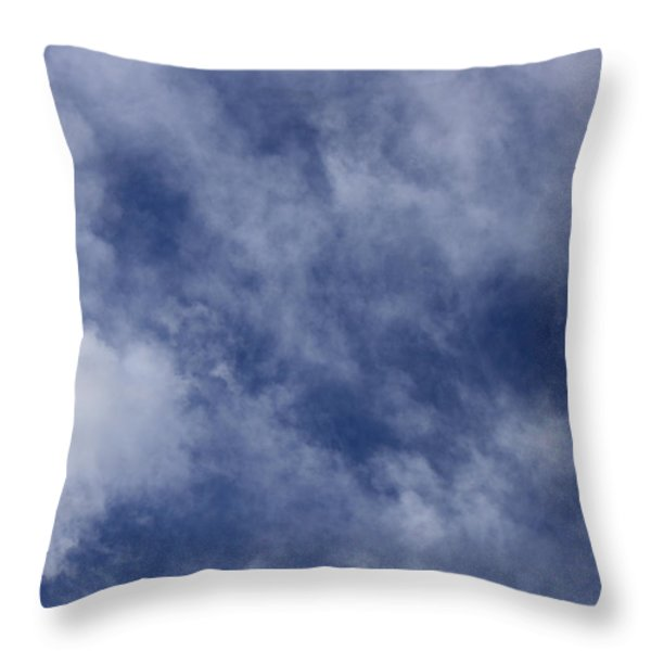 Clouds 5 Throw Pillow by Teresa Mucha