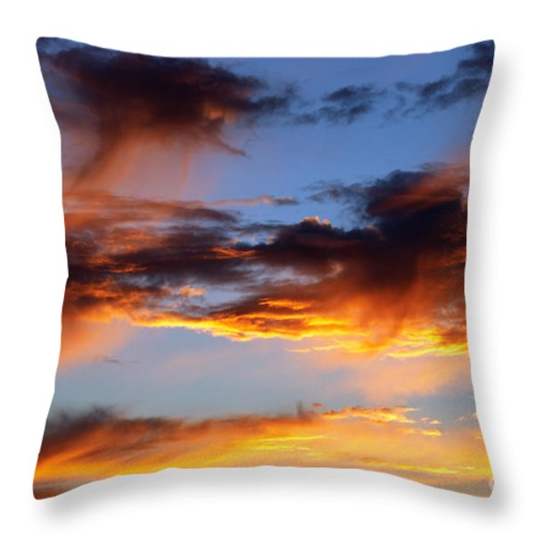 clouds Throw Pillow by Michal Boubin