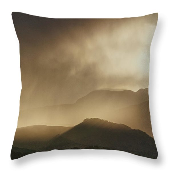 Clouds On The Rocky Mountains Front Range Foothills Throw Pillow by James BO  Insogna