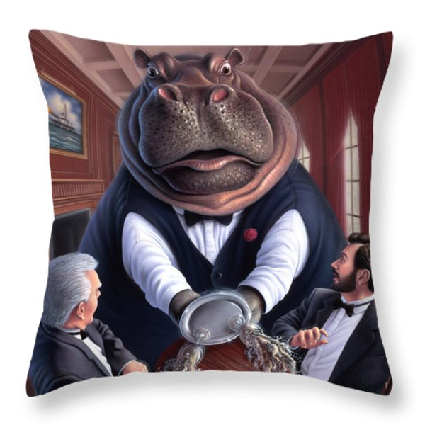 Clumsy Throw Pillow by Jerry LoFaro