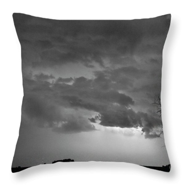 CO Cloud to Cloud Lightning Thunderstorm 27 BW Throw Pillow by James BO  Insogna