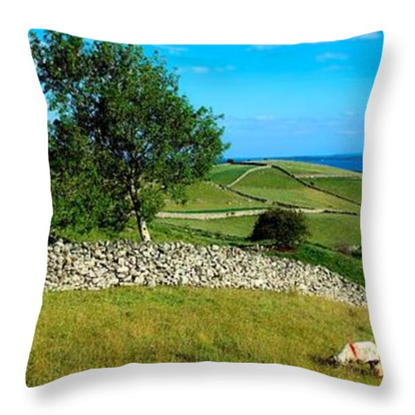 Co Galway, Connemara, Lough Corrib Throw Pillow by The Irish Image Collection