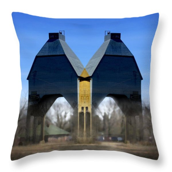 Coal Loader New Buffalo Throw Pillow by John Hansen