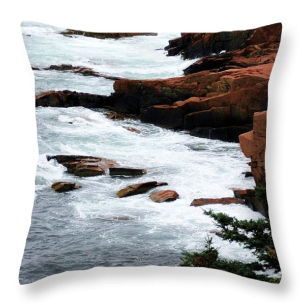 Coast Of Maine Throw Pillow by Kathleen Struckle