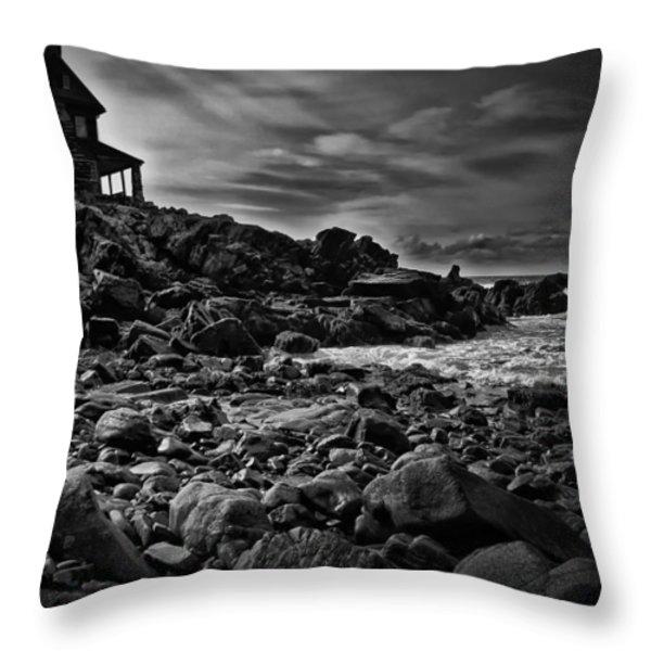 Coastal Home  Kennebunkport Maine Throw Pillow by Bob Orsillo