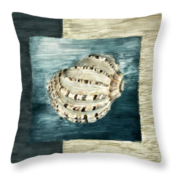 Coastal Jewel Throw Pillow by Lourry Legarde