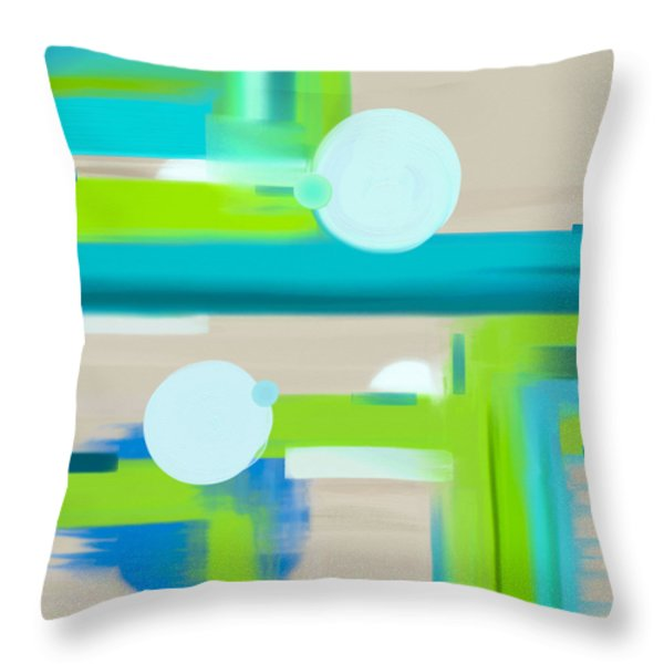 Throw Pillow featuring the painting Coastal Meadows by Frank Tschakert