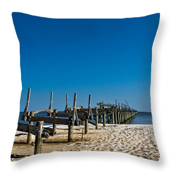 Coastal Remains Throw Pillow by Christopher Holmes