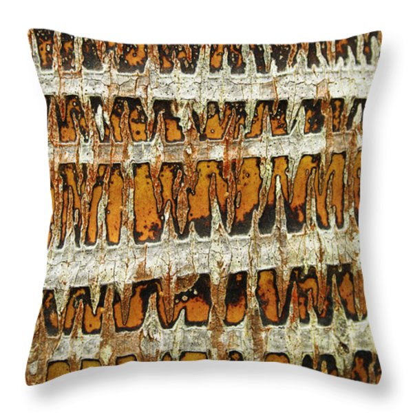 Coconut Palm Bark 3 Throw Pillow by Brandon Tabiolo - Printscapes