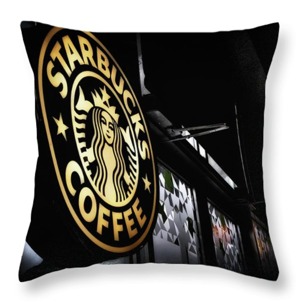 Coffee Break Throw Pillow by Spencer McDonald