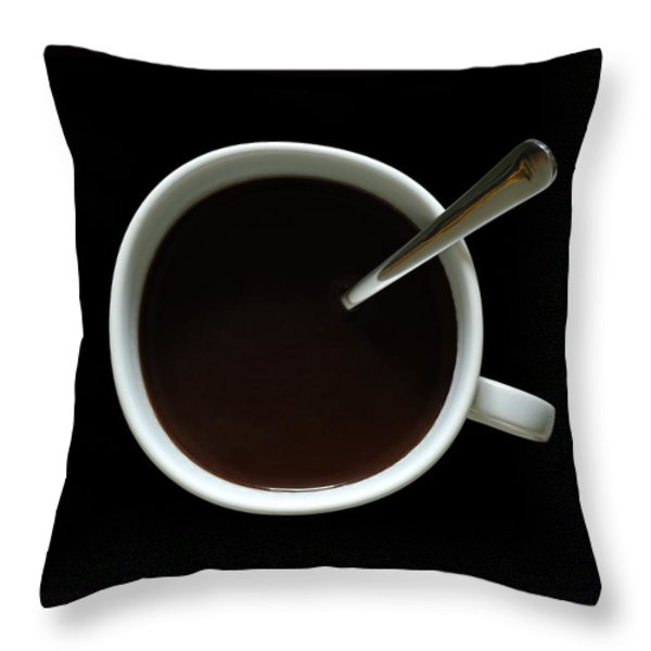 Coffee Cup Throw Pillow by Frank Tschakert