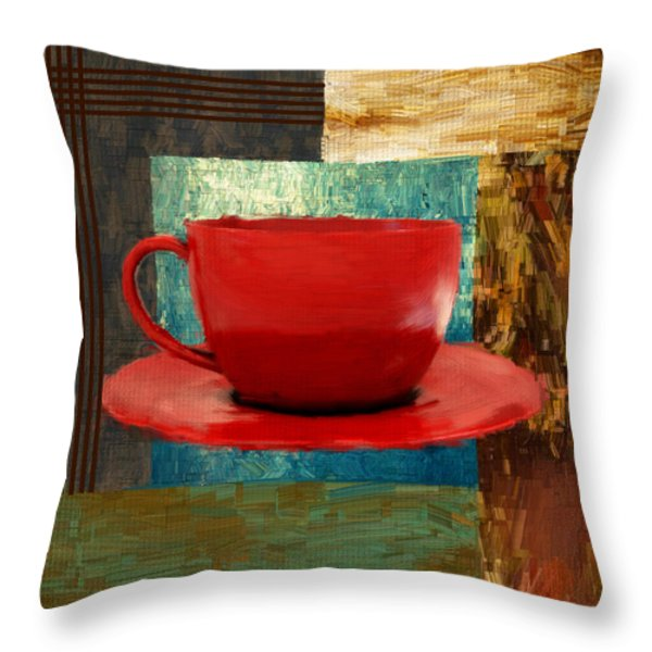 Coffee Lover Throw Pillow by Lourry Legarde