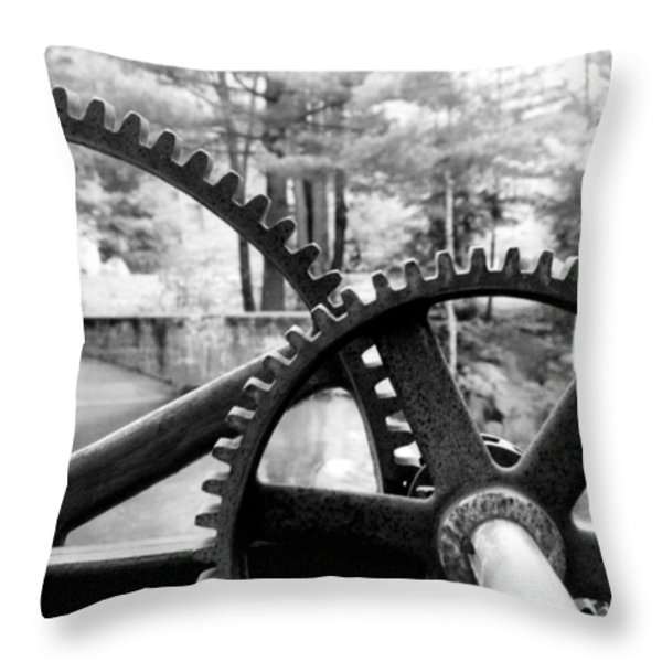 Cogs Throw Pillow by Greg Fortier