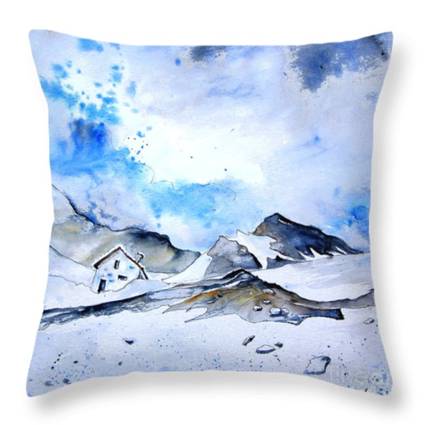 Col Du Pourtalet In The Pyrenees 01 Throw Pillow by Miki De Goodaboom