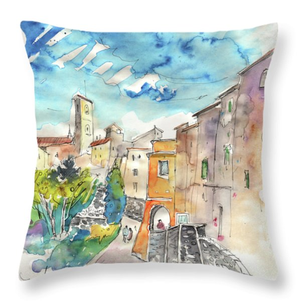 Colle D Val D Elsa In Italy 02 Throw Pillow by Miki De Goodaboom