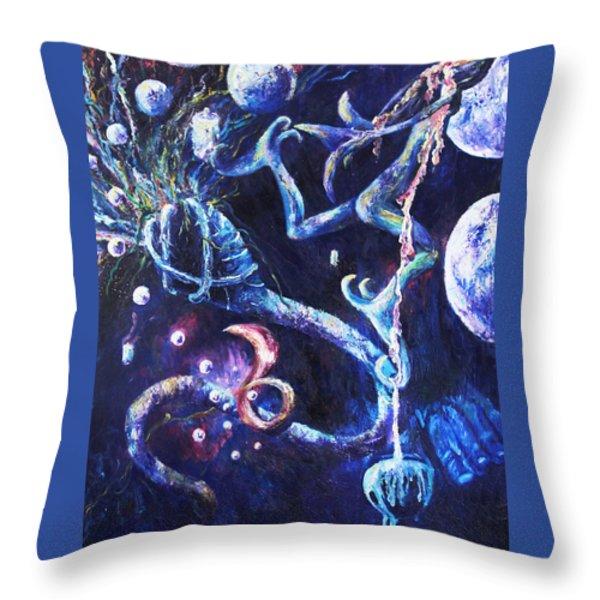Color Creation Myth Throw Pillow by Shelley Irish