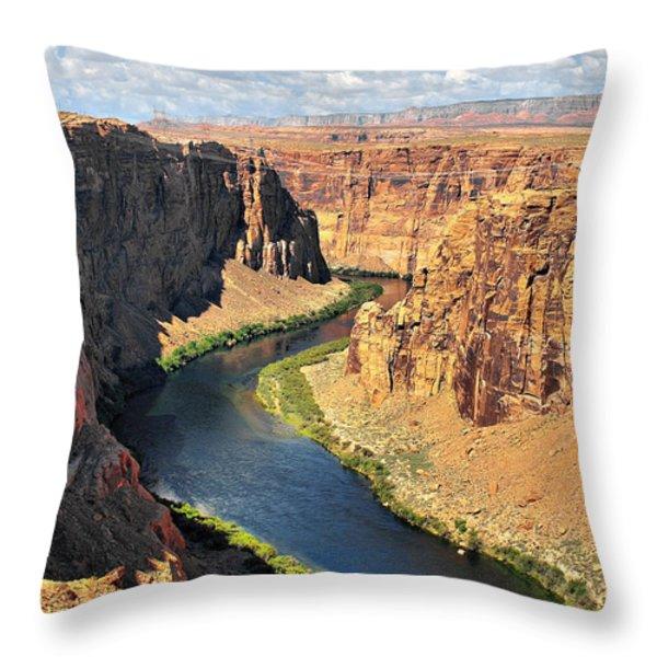 Colorado River At Marble Canyon Az Throw Pillow by Christine Till