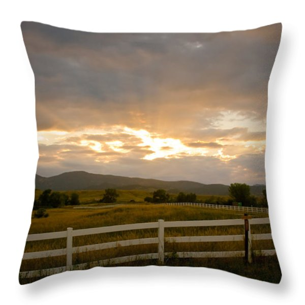 Colorado Rocky Mountain Country Sunset Throw Pillow by James BO  Insogna