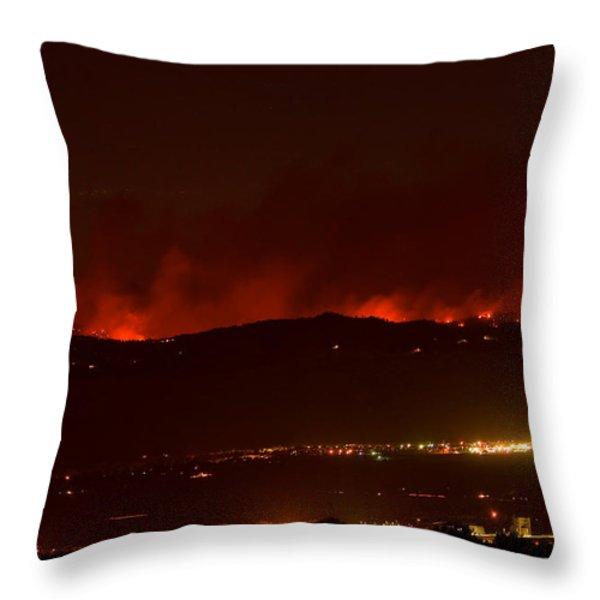 Colorado WildFire Fourmile Canyon aka Labor Day Fire Throw Pillow by James BO  Insogna