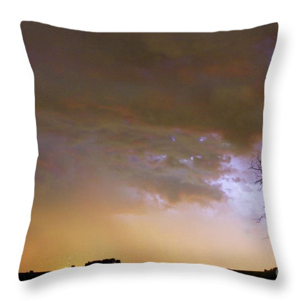 Colorful Colorado Cloud To Cloud Lightning Striking Throw Pillow by James BO  Insogna