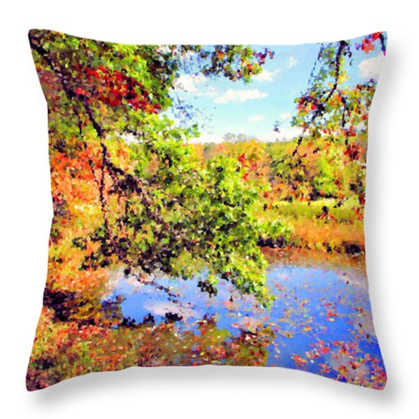 Colorful Reflections Throw Pillow by Kristin Elmquist