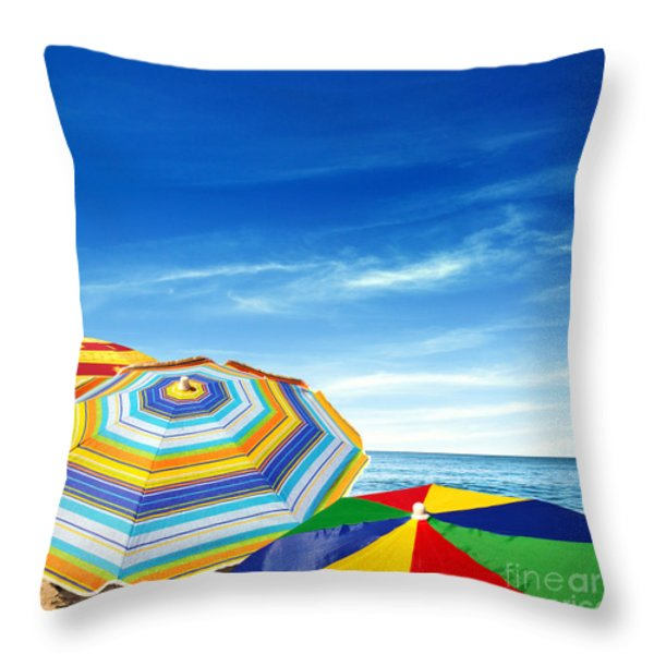 Colorful Sunshades Throw Pillow by Carlos Caetano