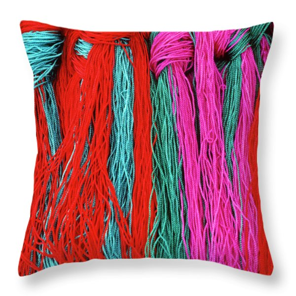 Colors of Tibet Throw Pillow by Michele Burgess