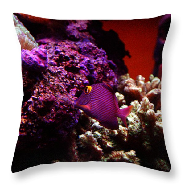 Colors of Underwater Life Throw Pillow by Clayton Bruster
