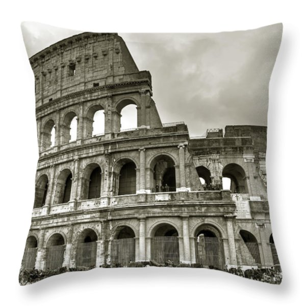Colosseum  Rome Throw Pillow by Joana Kruse
