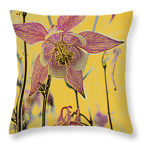 Columbine  Throw Pillow by Michael Peychich