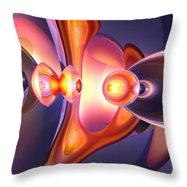 Combustion Abstract Throw Pillow by Alexander Butler