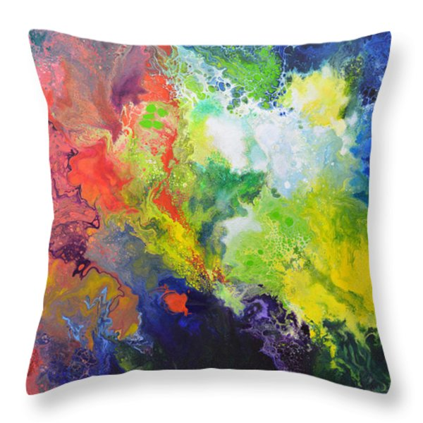 Comet Throw Pillow by Sally Trace