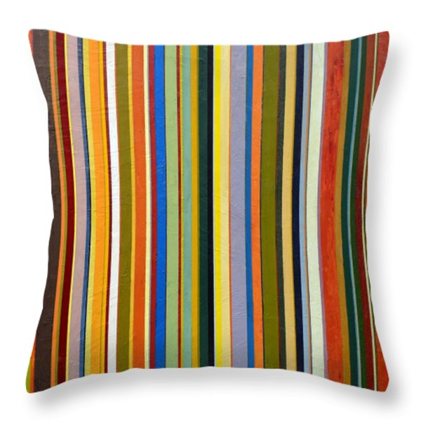Comfortable Stripes Throw Pillow by Michelle Calkins