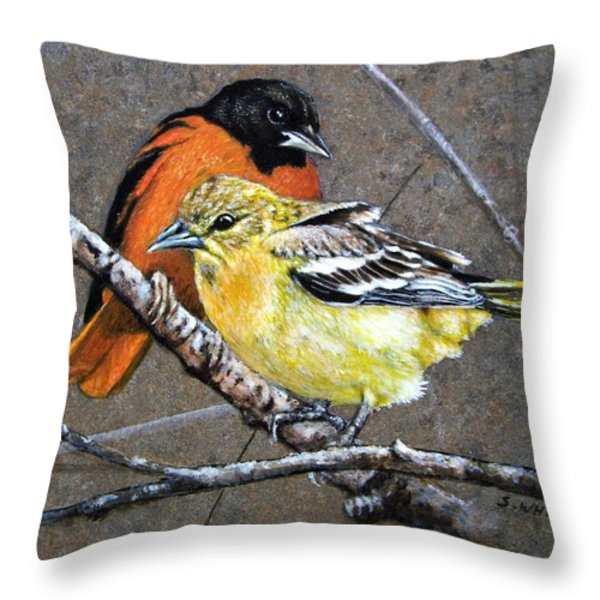 Comforting Throw Pillow by Stan White
