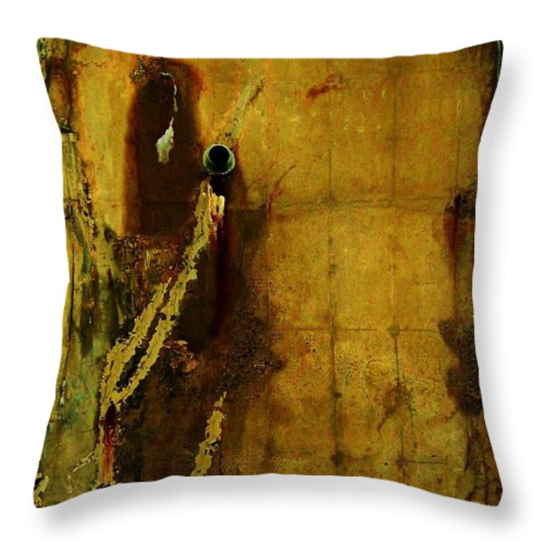 Concrete Canvas Throw Pillow by Reb Frost