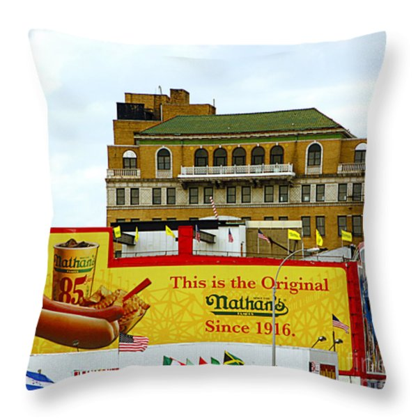 Coney Island Memories 9 Throw Pillow by Madeline Ellis