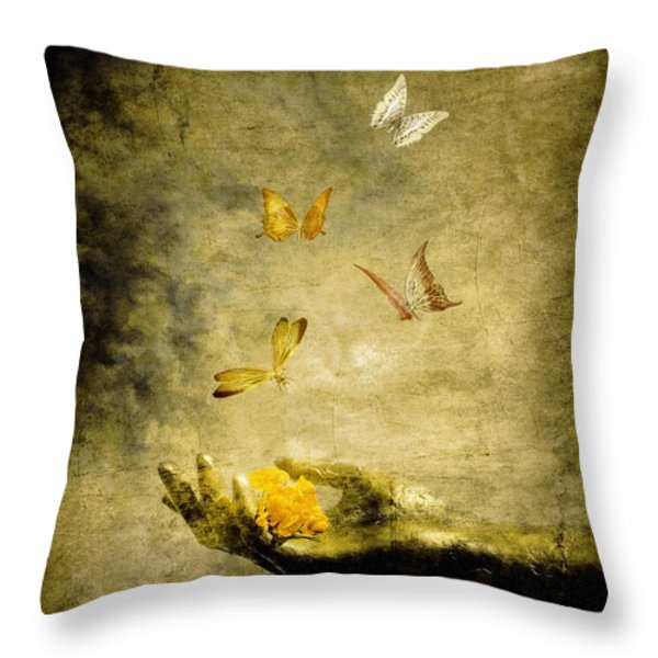 Connect Throw Pillow by Photodream Art
