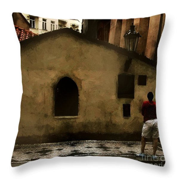 Contemplating Antiquity Throw Pillow by RC DeWinter