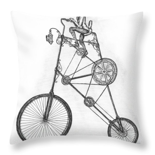Contraption Throw Pillow by Adam Zebediah Joseph