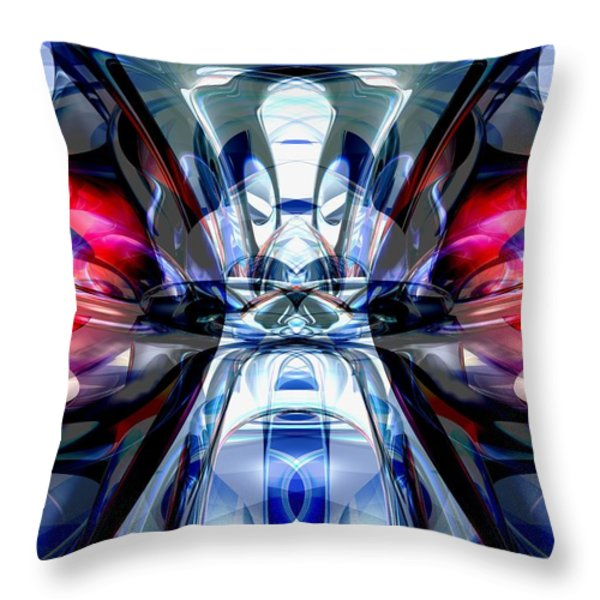 Convergence Abstract Throw Pillow by Alexander Butler