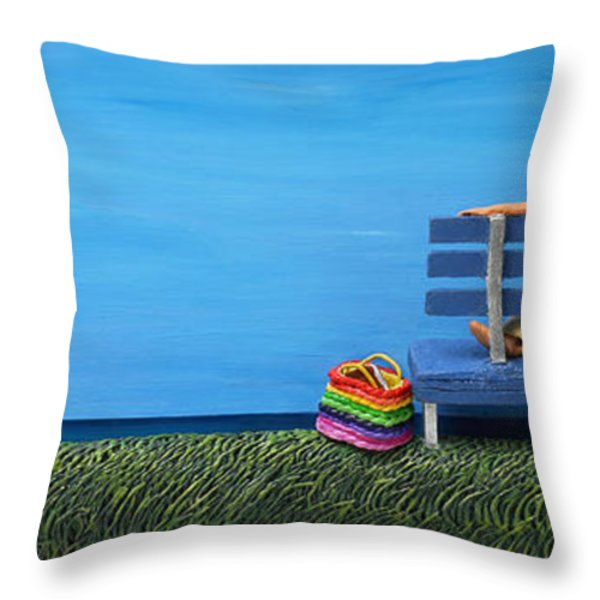 Cool Contemplation Throw Pillow by Anne Klar
