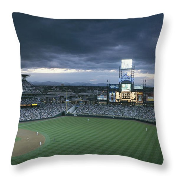Coors Field, Denver, Colorado Throw Pillow by Michael S. Lewis
