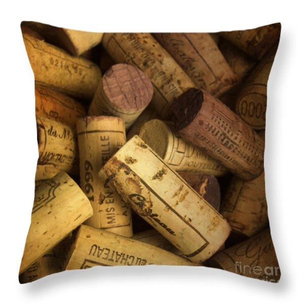 Corks Throw Pillow by Bernard Jaubert